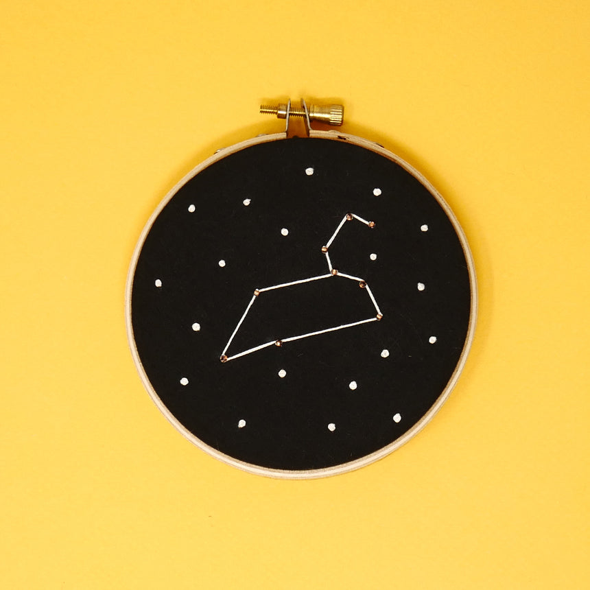 Star Sign Embroidery Hoop