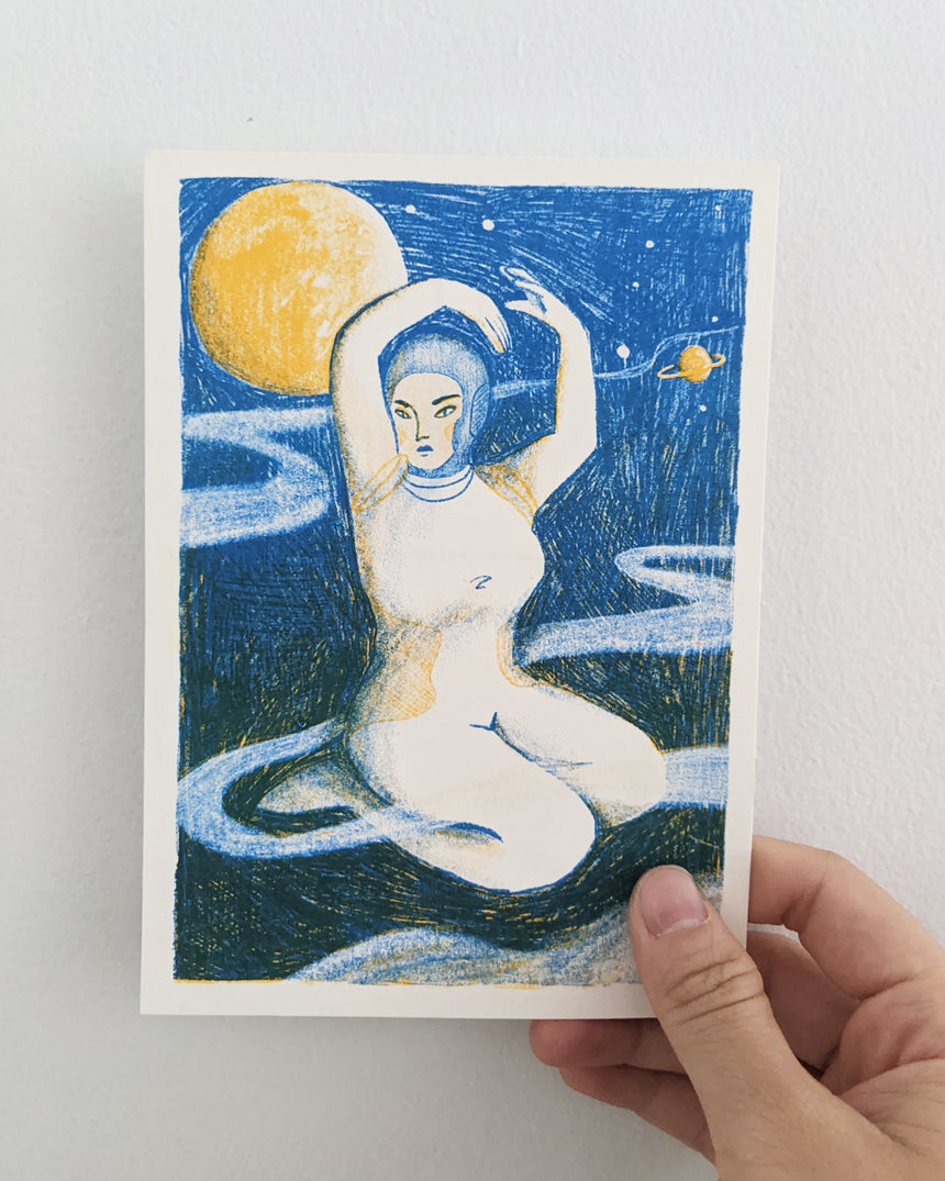 Astral Woman Postcard