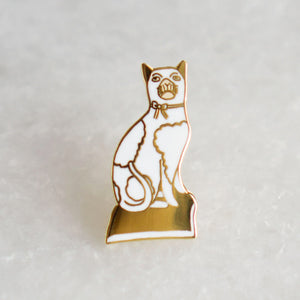 "Stay Home Club ""Staffordshire Cat"" Pin"