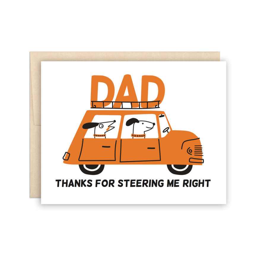 DAD Thanks for Steering Me Right Greeting Card