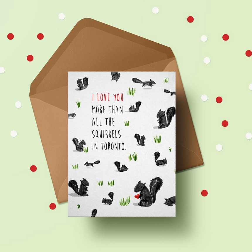 I Love You Squirrels Greeting Card