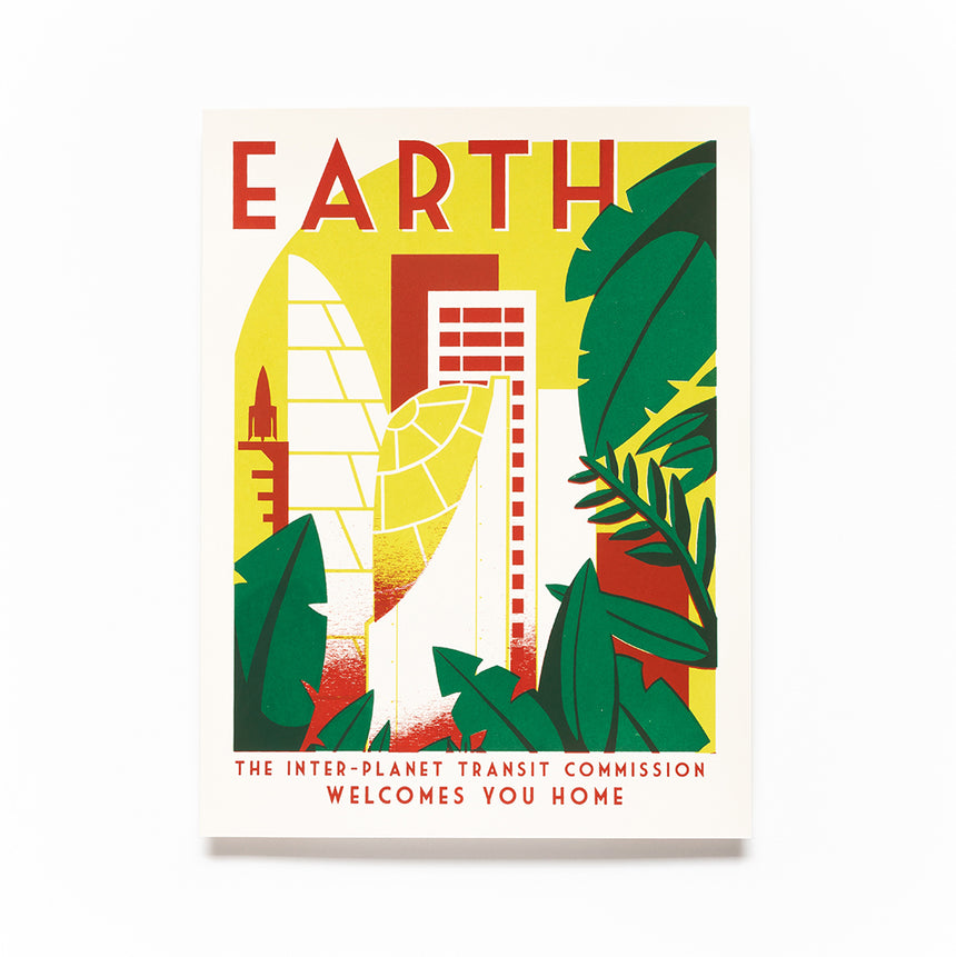 Earth Screen Print