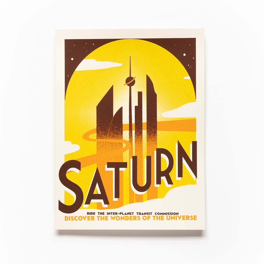 Saturn Screen Print