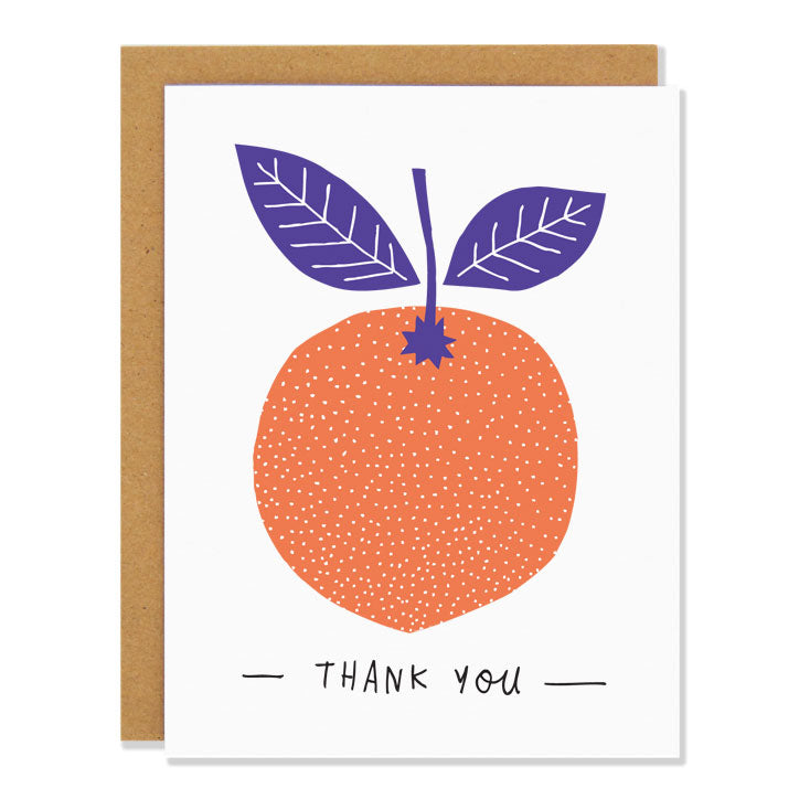 Thank You Orange Greeting Card