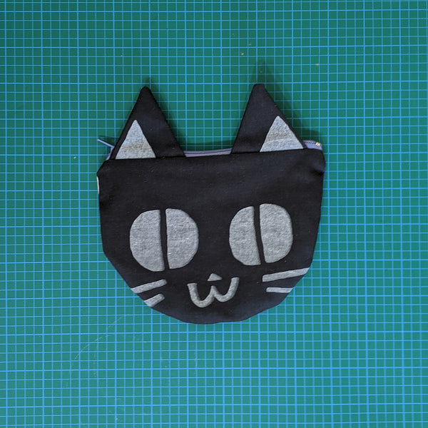 Hoglumps Studio Screen Printed Cat Pouch