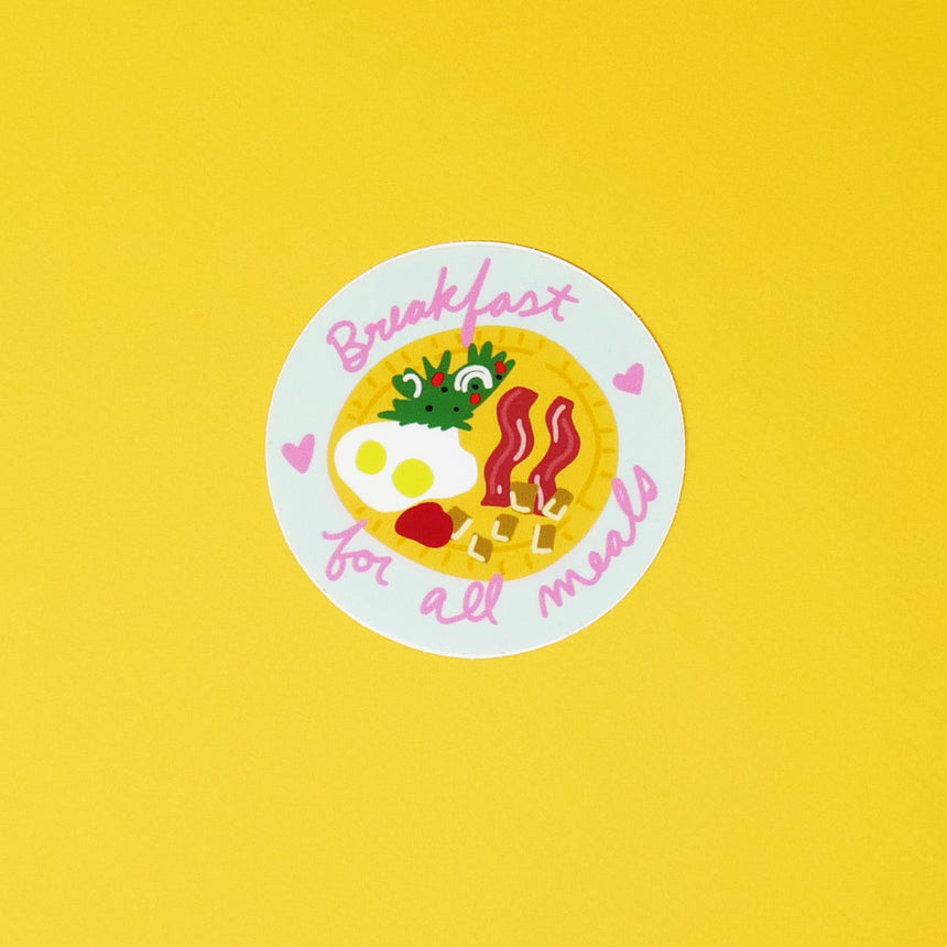 Breakfast for All Meals Sticker