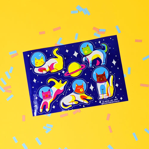Space Cat Sticker Sheet
