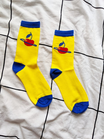 Cherry Planet Socks