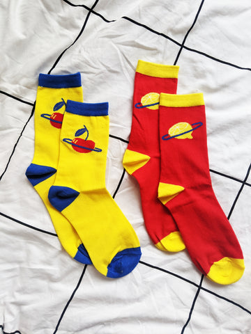 2 Pack Fruity Planet Socks!