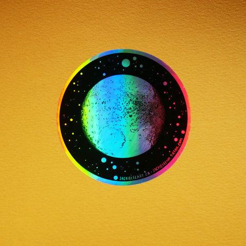 Holo Moon Sticker