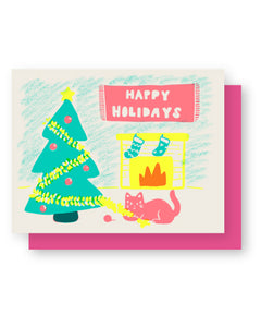 Happy Holidays Tree Holiday Card