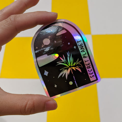 Holo Palm Sticker