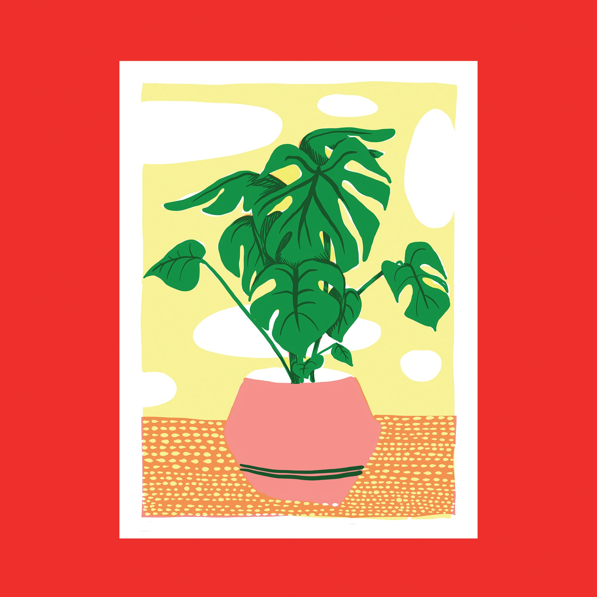 Monstera Screen Print