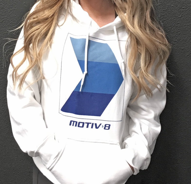 MOTIV8 WHITE ARROW CLUB HOODIE