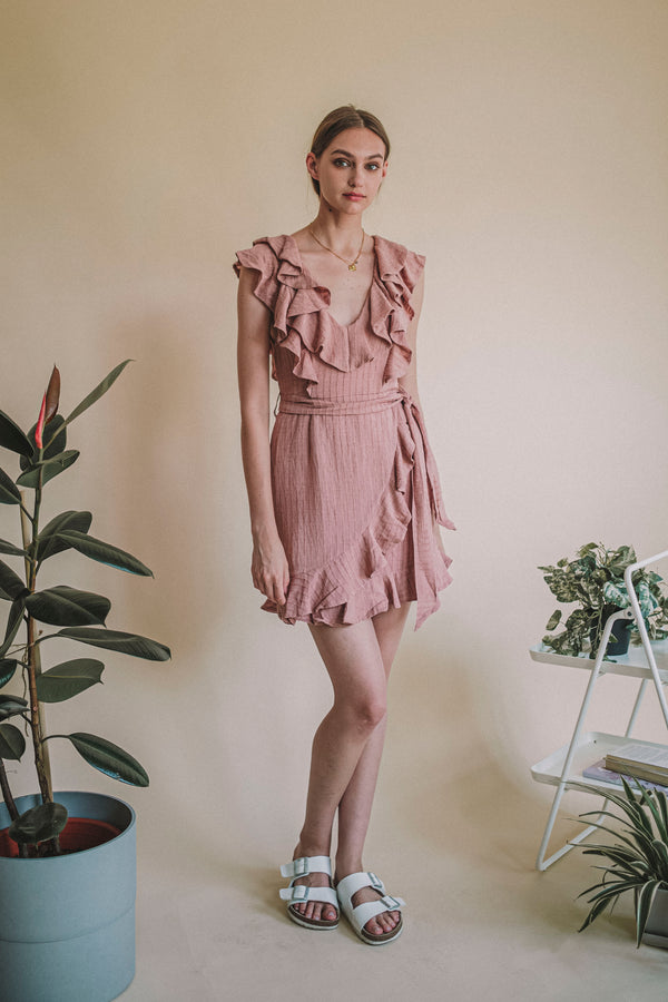 Angel's Ruffle Dress Rose