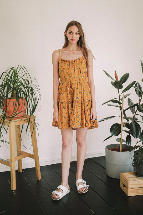 Bits of Blooms Mandarin Dress