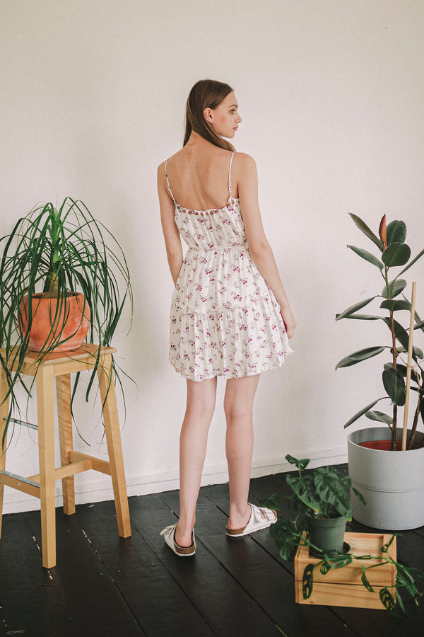 Bits of Bloom White Dress