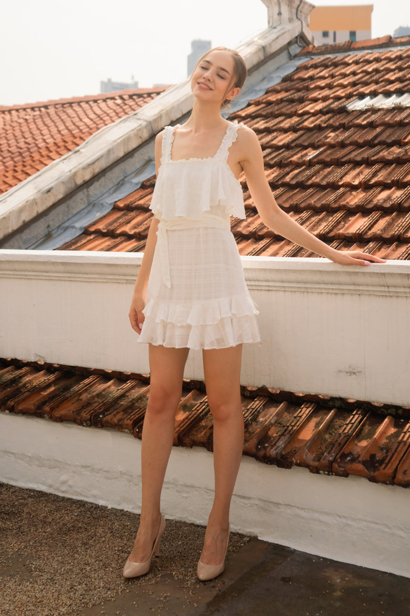 Checkmate Dress in White