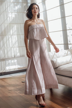 Holly Striped Jumpsuit - Pink