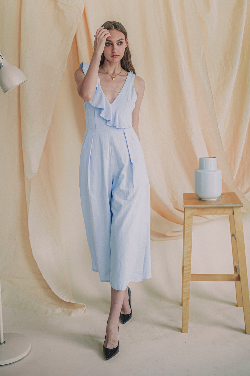 Remember Me Jumpsuit in Baby Blue