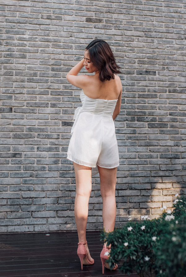 Wing It Bustier Romper