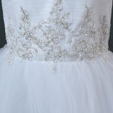 Tulle Mermaid Wedding Dresses Applique Beaded Bridal Gown