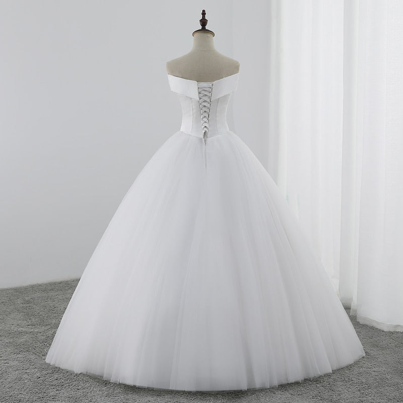 Ball Gown Wedding Dresses Charming V-neck Wedding Gowns