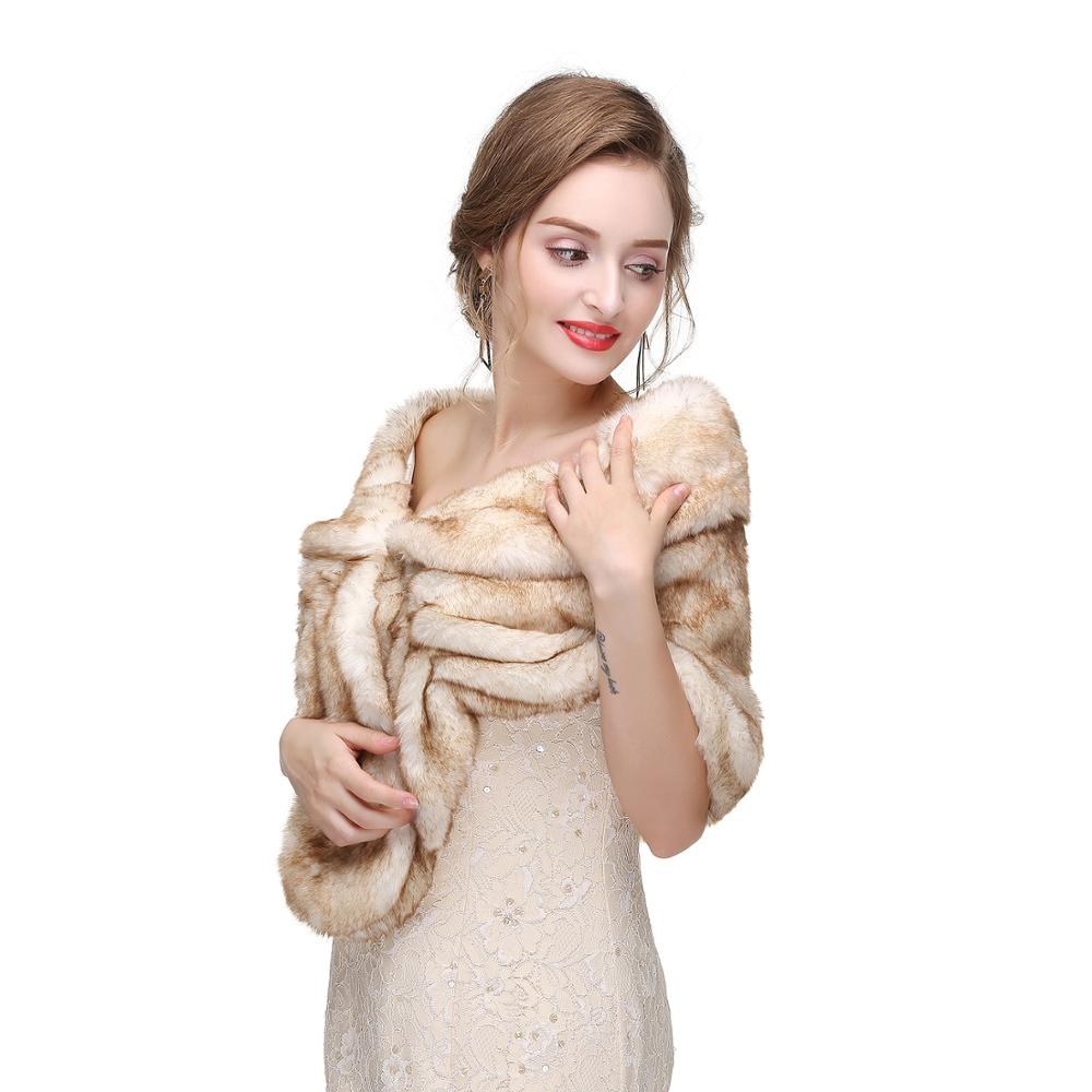Fashionable Bridal Wrap Fur Shawl Bridal Wedding Cover Up Stole