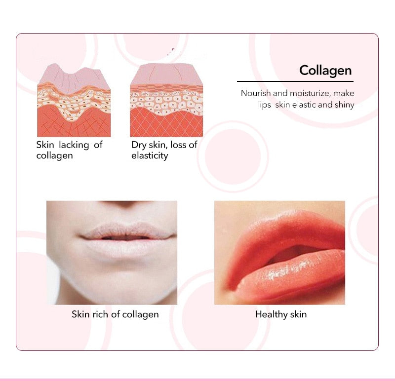 20PCS Collagen Lip Mask Brighten Lip Color Fade Lip Lines Lip Film Patch Moisturizing Gel Lip Care Anti Wrinkle Daralis