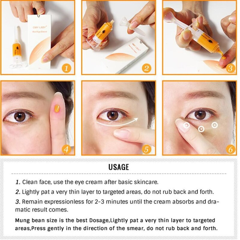 Eye Cream Anti Puffiness Eye Serum Instant Remove Dark Circles Eye Gel Anti Age Eye Care Essence