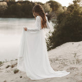 Boho Beach Wedding Dress Long Sleeve bridal dresses