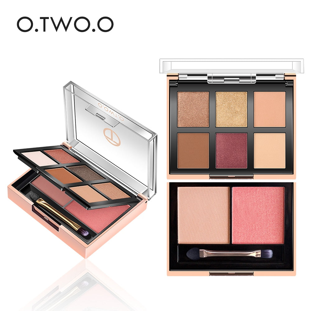 Eyeshadow Palette Highlighter 6 Colors Eyeshadow+2 Colors Blusher Pallete