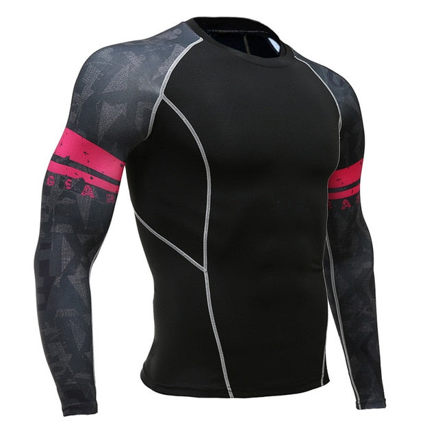 Men's Sports Suit Compression Clothing Fitness Training kit Thermal Underwear MMA rashgard male Quick drying shirt Sportswear
