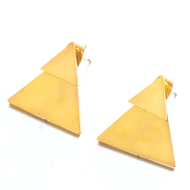 New Earrings Fashion Simple Stud Earrings Personality Trendy Three ways to wear Triangle Earring Wholesale Jewelry Womens Earing