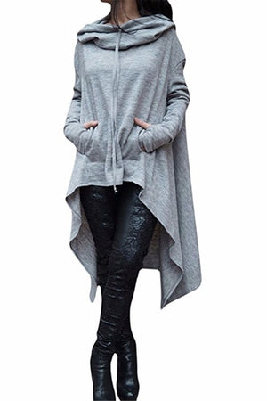 Autumn Winter Long Hoodies Sweatshirts Women Plus Size Loose Long Sleeve Hooded Sweatshirt Female Casual Pullover Hoodie