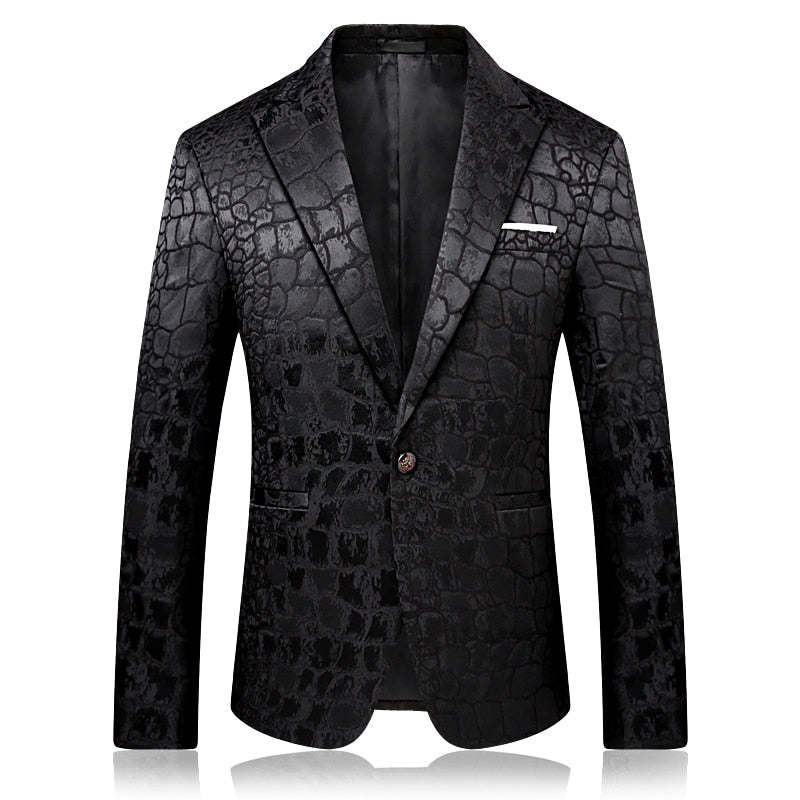 Slim design black men suit jacket long-sleeved Asian size S M L XL XXL XXXL XXXXL  mens suits blazers high quality