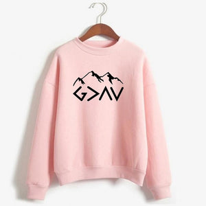 God Is Greater Than My Highs And Lows Hoodie God Is Greater sweatshirt Faith Hoodie Inspirational Mountains Hoodie Clothes