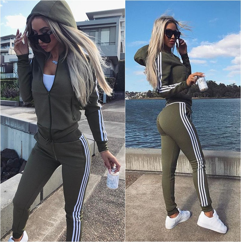 Women Set Top and Pants Women's Wear New Sports Suit 2piece