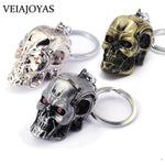 Motorcycles Keyring Movie Terminator 3D Skull Head Alloy Keychain Charms Men's Keychains Ghostface Jewelry Accessories Wholesale