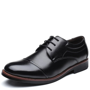 ROXDIA men dress shoes formal business work soft patent leather pointed toe for man male men's oxford flats RXM074