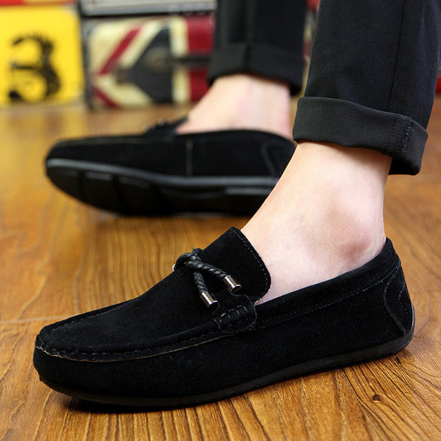 UPUPER Spring Summer NEW Men's Loafers Comfortable Flat Casual Shoes Men Breathable Slip-On Soft Leather Driving Shoes Moccasins