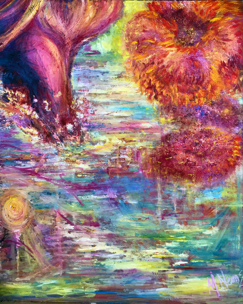IN THE BEGINNING 3 OF 20 | SCENT OF THE MORNING DEW | Original Oil Painting on Canvas w/ 3D effect