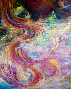 IN THE BEGINNING 4 OF 20 | ROLLING WAVES | Original Oil Painting on Canvas w/ 3D effect