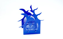 Load image into Gallery viewer, Candle light - BAZ Sunset Birds - Royal Blue w/ Stainless Steel Center Base