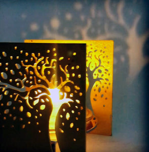 BAZ Metallique Scuplture With Candle Light - Pattern Tre of Paradise | Prisma Collection (B2)