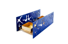 Load image into Gallery viewer, Candle light- BAZ Paradise -Royal Blue Center Base & Two Candle Trays in Rose Gold Plated