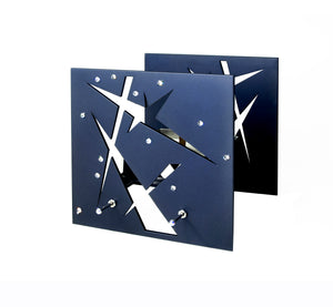 BAZ CONSTELLATIONS Midnight Blue is a Decorative Metal Sculpture & Candle Lantern With Swarovski Crystals