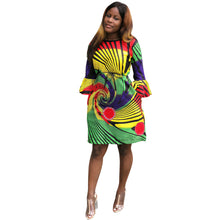 RICHE BAZIN  New dashiki African style women's African WAX Sexy Fashion Printed Pocket Dress