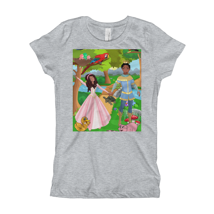 Girl's T-Shirt princess and prince