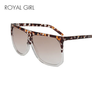 ROYAL GIRL Fashion Woman Sunglasses Men Brand Designer Mirror Oversized Sunglasses Male  ss759